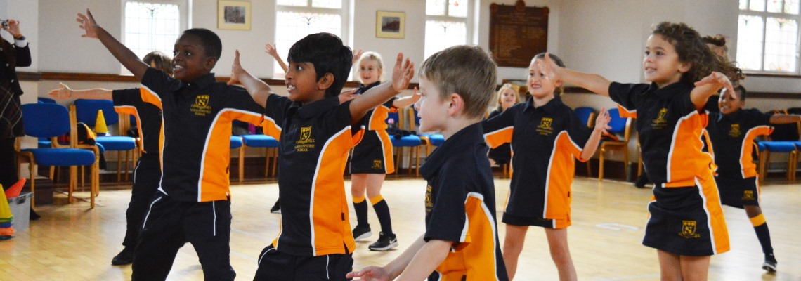 PE activities at Normanhurst school