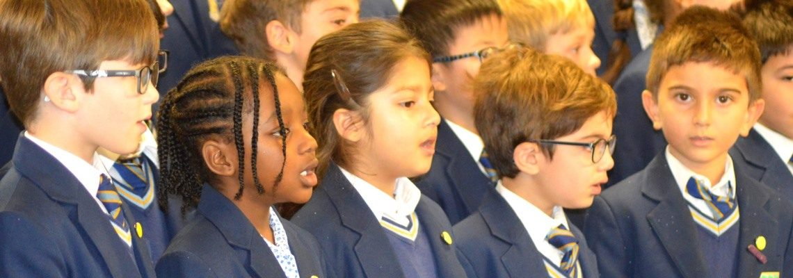 Singing performance at Normanhurst School
