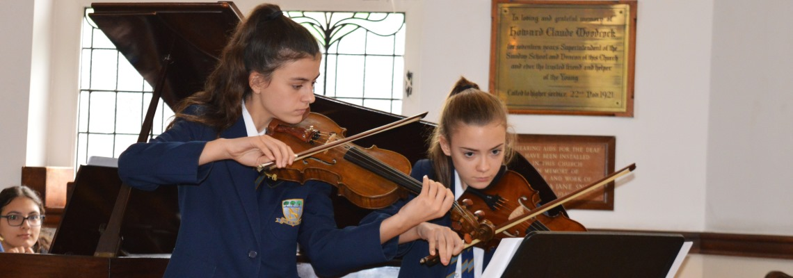 Music performance at Normanhurst School
